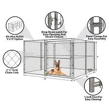 Pet Sentinel 10 Ft L X 10 Ft W X 6 Ft H Preassembled Kit Pet Kennel In The Dog Pens Runs Department At Lowes Com