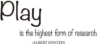 Amazon Com Zssz Play Is The Highest Form Of Research Albert Einstein Quotes Wall Decals Nursery Room Vinyl Sayings Decor Kids Playroom Art Letters Motto Home Kitchen
