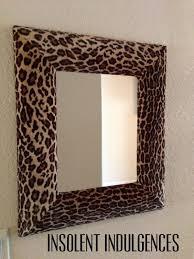 leopard print mirror via love