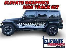 Fits Jeep Wrangler Side Track Graphics 3m Stripes Vinyl Decal Stickers 2007 2018 Ebay