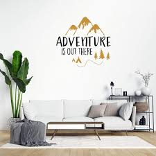 Amazon Com Adventure Is Out There Mountain Wall Decals Camping Hiking Peel And Stick Wall Stickers For Bedroom Living Room Office Decal Wall Art Home Decor Baby