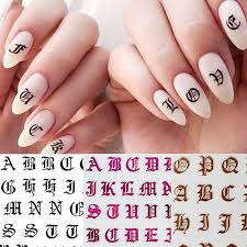 Gothic Letter 3d Nail Sticker Rose Gold Words Nail Slider Decals Adhesive Sticker Tips Manicure Art Decoration How To Use Nail Stickers Diy Nail Decals From Stylinghair 24 05 Dhgate Com