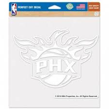 Phoenix Suns Logo 8x8 White Die Cut Decal At Sticker Shoppe