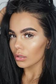 natural makeup for dark brown eyes