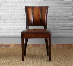 elliot leather dining chair pottery barn