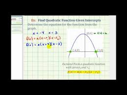 ex find a quadratic function given the