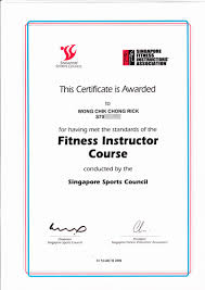 ssc sfia certified fitness instructor