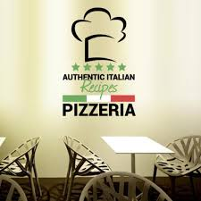 Full Color Wall Decal Pizza Italian Restaurant Pizzeria Signboard Cafe Mcol25 Ebay