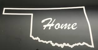 Oklahoma Decal With Home In The Middle Vinyl Signs And Decals