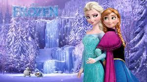 olaf elsa and anna frozen wallpaper