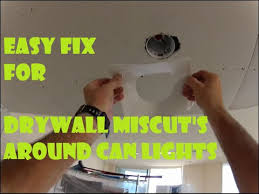 how to repair drywall mistakes around
