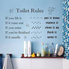 Shop Walplus Toilet Rules Wall Stickers Home Decoration Decal Wall Decor On Sale Overstock 31770430
