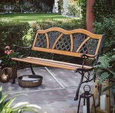 metal curved wooden backyard patio