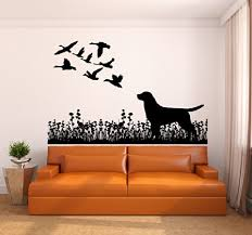 Amazon Com Labrador Dog And Ducks Silhouette Vinyl Wall Decal Sticker Graphic Handmade