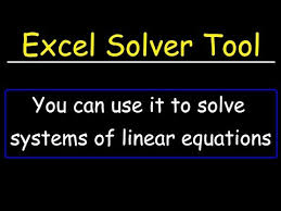 solver tool in excel to solve systems
