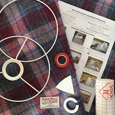diy harris tweed lampshade kit uk eu