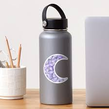 Crystal Moon Purple Sticker By Ginaaarts Redbubble