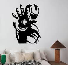 Iron Man Wall Decal Vinyl Sticker Marvel Comics Superhero Art Etsy