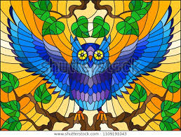 stained glass style fabulous blue