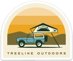 Premium Stickers Treeline Outdoors