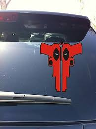 30 07 Deadpool 2 Guns Window Vinyl Sticker Decal Marvel Wade Winston Wilson 5 00 Picclick