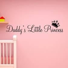 Vwaq Daddy S Little Princess Nursery Wall Decals Cute Baby Quote Vinyl Wall Art Quotes Nursery Baby Girl Room Decor Walmart Com Walmart Com