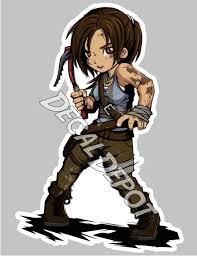 Tomb Raider Lara Croft Vinyl Decal Etsy