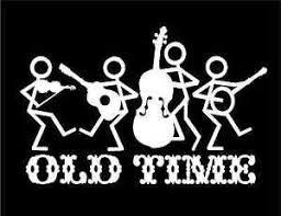 Old Time Music Decal Stick Figure Band Instruments Truck Window Vinyl Sticker Ebay