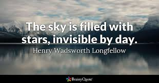 henry wadsworth longfellow the sky is filled stars