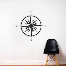 Direction Compass Decal Compass Table Compass Direction Sticker Wall Stickers Trendy Wall Designs