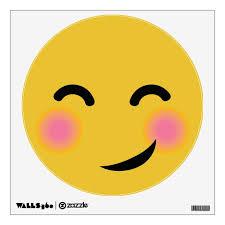 You Got Me Blushing Emoji Wall Decal Zazzle Com