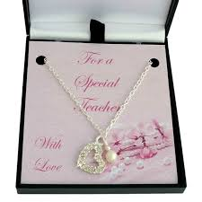crystal heart necklace thank you gift