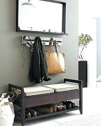 entry way storage bench entryway front