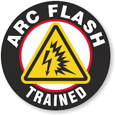 Arc Flash Trained Hard Hat Decals Myhardhatstickers Signs Sku Hh 0350