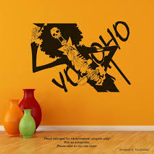 Amazon Com Manga Anime One Piece Wall Decals Brook Stickers Decorative Design Ideas For Your Home Or Office Walls Removable Vinyl Murals Ec 1100 Arts Crafts Sewing