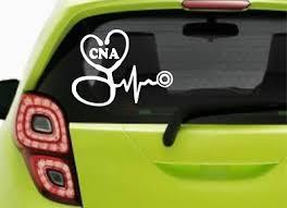 Cna Stethoscope Ekg Heart Nurse Rn Lpn Nursing Car Window Laptop Decal Sticker Ebay