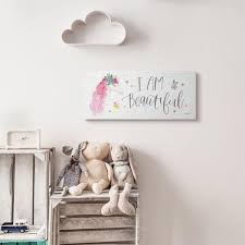The Kids Room By Stupell 10 In X 24 In I Am Beautiful Word Kids Nursery Unicorn Pink Watercolor By Jenaya Jackson Canvas Wall Art Brp 2425 Cn 10x24 The Home Depot
