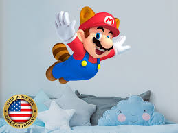 Super Mario Wall Decal Mario Nursery Themed Decor Game Room Etsy