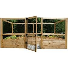 Amazon Com Square Raised Garden With Deer Fence Kit Garden Outdoor
