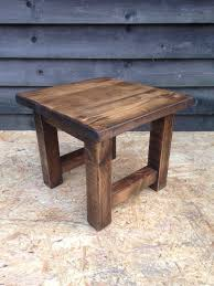 small rustic side table plant stand