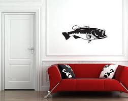 Bass Wall Decals Etsy