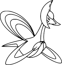 Pokemon Cresselia Coloring Page