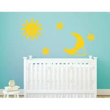Sun Moon And Stars Wall Decal Nursery Wall Decal Sticker Mural Vinyl Art Home Decor 4395 Golden Yellow 47in X 47in Walmart Com Walmart Com