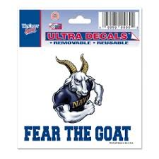 Us Naval Academy Midshipmen Navy Fear The Goat 3x4 Ultra Decal At Sticker Shoppe