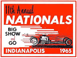 Amazon Com 11th Annual Nhra Nationals Indianapolis 1965 Drag Race Hot Rod Decal Sticker Automotive