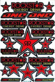 Red Rockstar Energy Stickers Motocross Motorrad Auto Bike Atv Aufkleber Decals For Sale Online Ebay