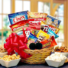 snack gift basket sweet salty