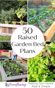 plans to diy your own raised garden bed