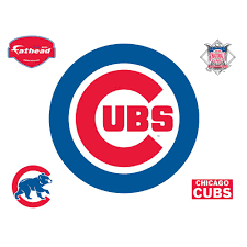 Fathead 37 In H X 37 In W Chicago Cubs Logo Wall Mural 63 63208 The Home Depot