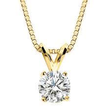 parikhs round diamond solitaire pendant